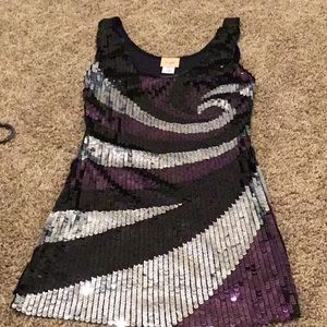 Tank sequence mini dress